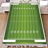 iPrint Bedding Duvet Cover Set 3D Print,Gridiron Yard Competitive Games College Teamwork,Best Modern Style Bed Skirt for Men and Women by 70.9''x94.5''