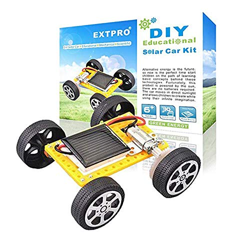 Solar Toy Car - Extpro Solar Car - DIY Assemble Toy Set Solar Powered Car Kit Science Educational Kit for Kids Students