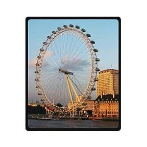 Best Seller Beautiful London Eye Pattern Design Custom Fleece Blanket 50 x 60 (Medium)