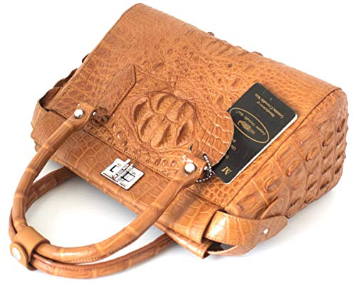 Womens Tan Hobo Hornback Skin Bag Strap Authentic Tote M Handbag Crocodile W qnaOwtvW
