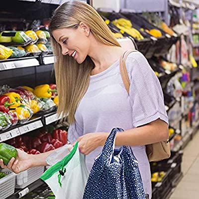 U-picks Reusable Sandwich Bags, Set of 5 Upgrade Leakproof Storage Bags, FDA Food Grade PEVA Ziplock Lunch Bags, Eco Friendly Freezer Bag Snack Bags
