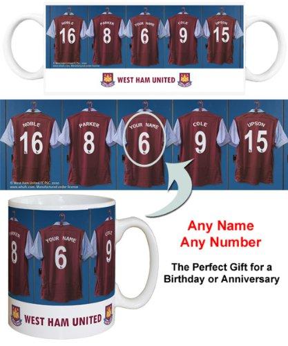 2294409afb40 West Ham United FC Personalised Mug - Football Gifts  Amazon.co.uk  Kitchen    Home