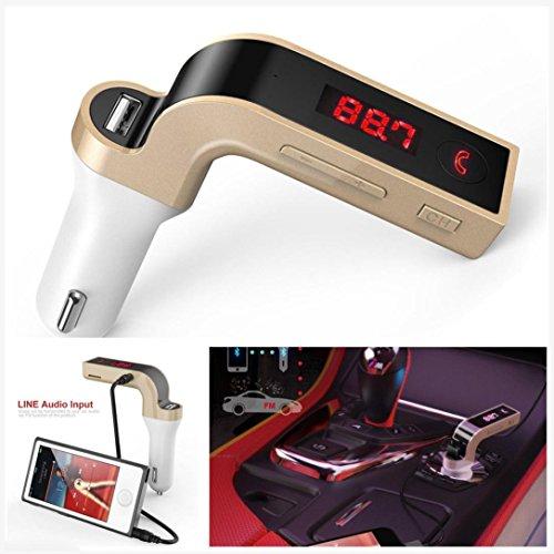 Bluetooh FM Transmitter, Gotd G7 Bluetooth Car Kit Handsfree FM Transmitter Radio MP3 Player USB Charger & AUX (Black)