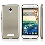 Micromax Canvas Doodle 4 Case, BoxWave[Pure Crystal Slip] Durable, Flexible Transparent Cover for Micromax Canvas Doodle 4 - Smoke Grey