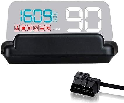 VJOYCAR C500 OBD Hud Head Up Display Digital velocímetro Coche ...