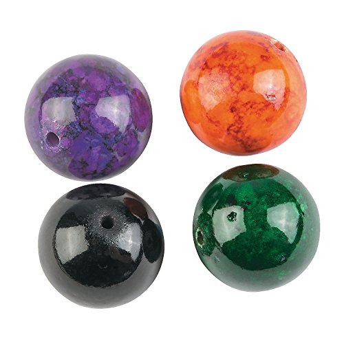 Premium Glass Halloween Mountain Jade Beads - 12mm (Mountain Jade Beads)