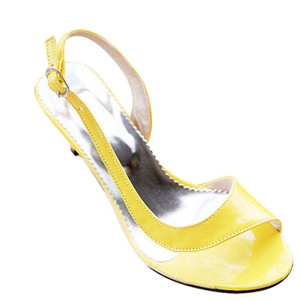 CHENYANG B012CJ696A Femmes de Peep Toe Pompes Fête à Talons Hauts Chaussures de Mariage Fête Jaune 539f1b6 - robotanarchy.space