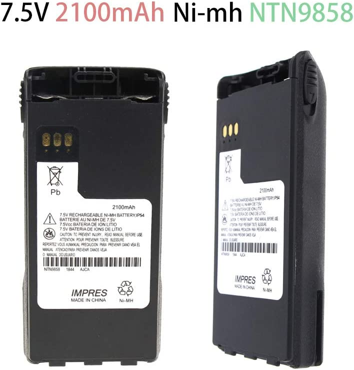 with IMPRES Function 7.5v 2100mAh Replacement Battery for Motorola ...