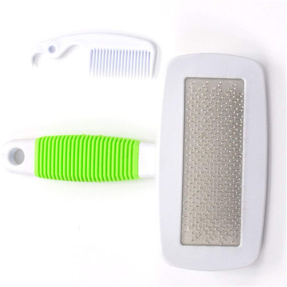 Green Small Green Small Pet Grooming Brush, Slicker Brush for Small, Medium & Large Dogs Cats Shedding Grooming Tools,Green,S