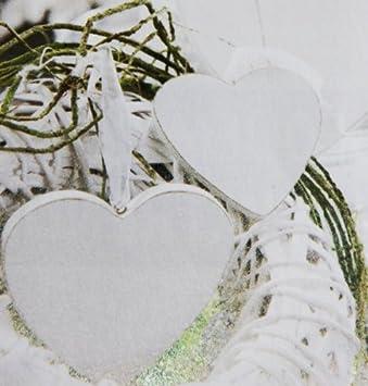 4 Stk Herzen Aus Holz Weiss Holzherzen 9cm Gross Dekoherzen Hochzeit