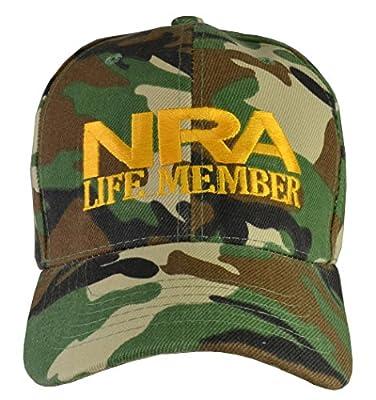 Incrediblegifts NRA Life Member Embroidered Baseball Hat Camo