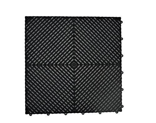 Will-vines Garage Flooring Interlocking Tiles Red, Yellow, Grey, Black 5 Pack 20