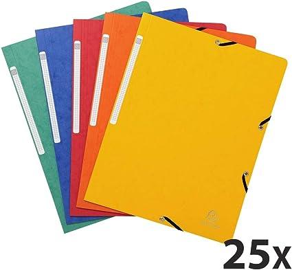 Exacompta 51025E - Pack de 25 carpetas con goma, multicolor ...