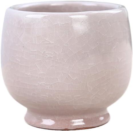 White Crackle Glaze Vintage Ceramic Candlestick Phone Planter