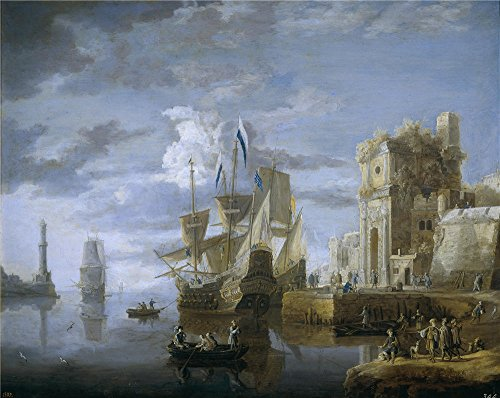 The Polyster Canvas Of Oil Painting 'Peeters Jan Un Puerto De Mar 17 Century ' ,size: 18 X 23 Inch / 46 X 58 Cm ,this Imitations Art DecorativeCanvas Prints Is Fit For Home Office Decoration And Home Decor And Gifts