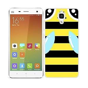 Funda carcasa para Xiaomi MI4 diseño abeja bichito amarillo y negro borde blanco