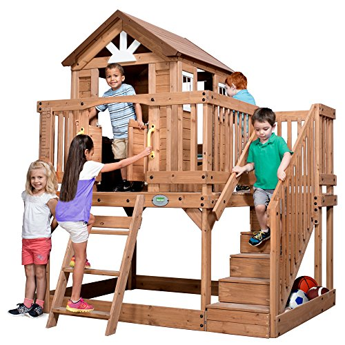 (Backyard Discovery 1605336 Scenic Heights All Cedar Playhouse)