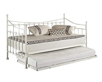 Versailles - cama de nido de día elegante, francesa, de metal,