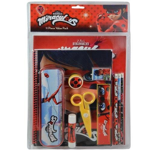 Amazon.com: Ladybug 11pc Value Pack with Plastic Pencil Case in PVC Bag with Header: Toys & Games