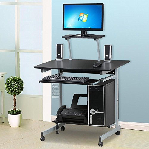 Go2buy Small Spaces Computer Desk With Keyboard Tray