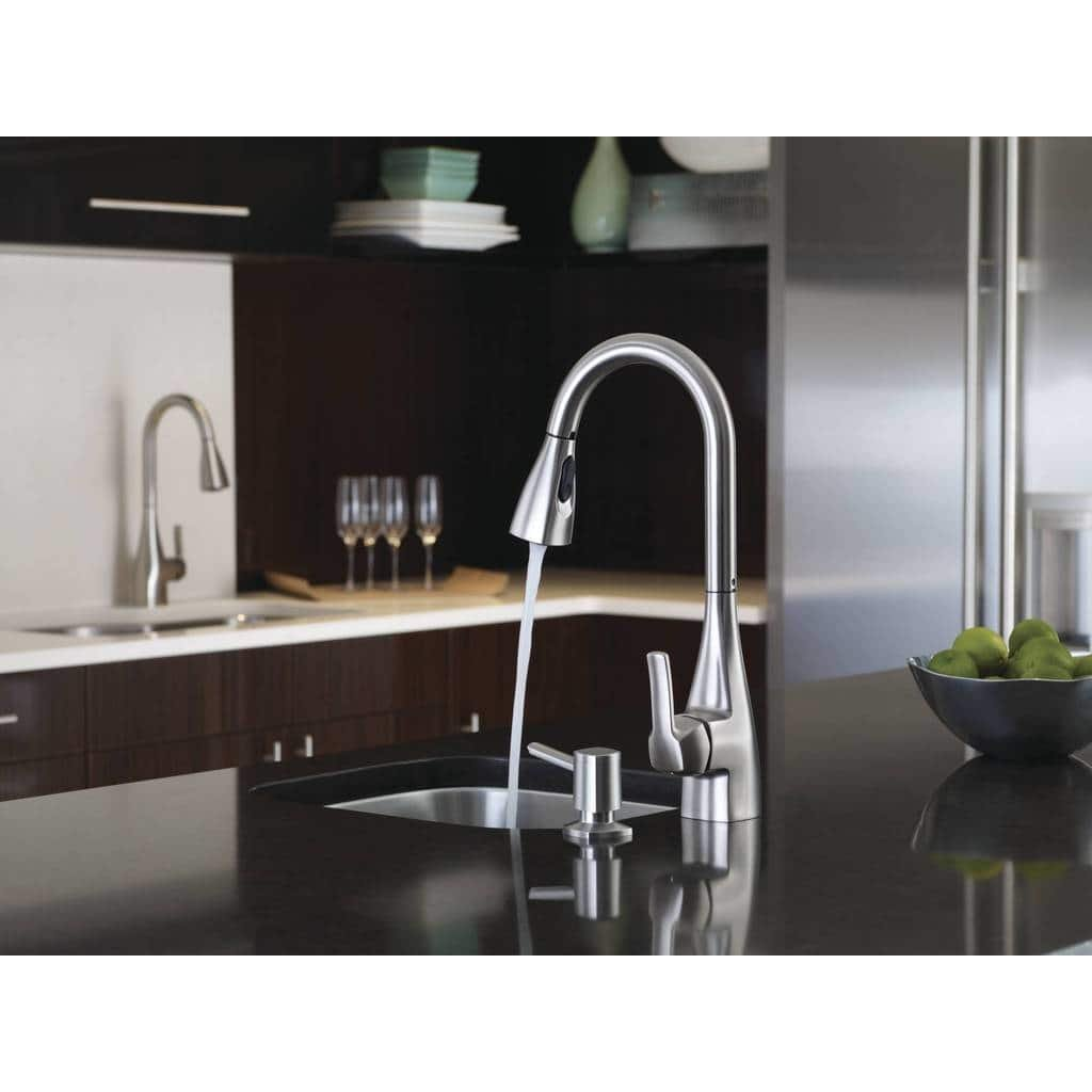 Moen 87599SRS Kiran 1 Handle Pulldown Kitchen Faucet, Spot Resist ...