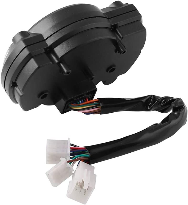 Universal Motorcycle Tachometer 15000rpm Digital Odometer LCD Speedometer Speed Gauge Gear Indicator Speed Sensor for Most Motorcycles