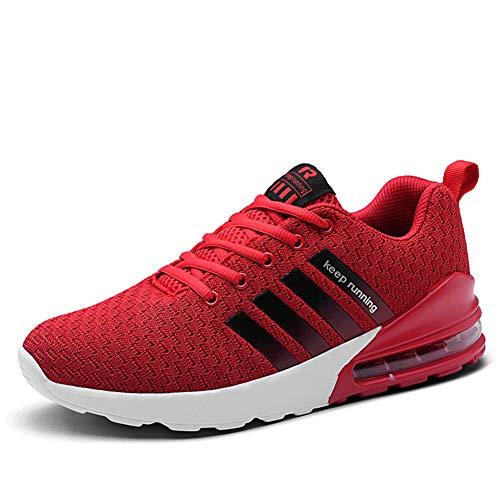 Trail Course Chaussures Basket d Gym Running Sport Plein Rouge Pour Air Compétition Homme Fitness Athlétique Femme Jogging Entraînement Shoes De Respirantes Sneaker PB5T6O1qw