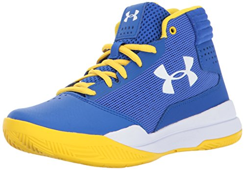 Under Armour Boys' Boys' Grade School Jet 2017, Team Royal/White/White, 4 M US Big Kid