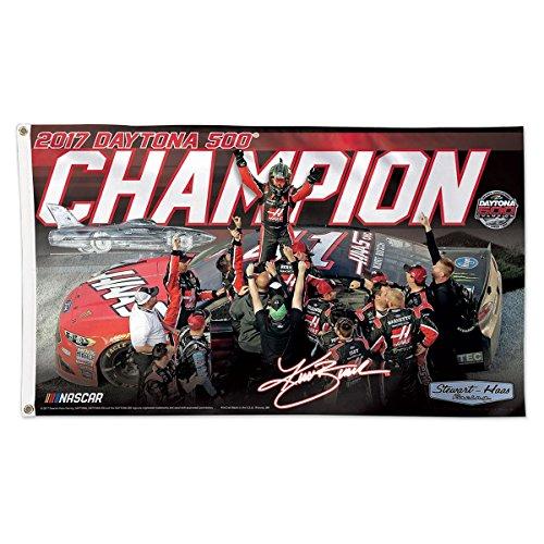 Kurt Busch Daytona 500 Champion NASCAR 3 x 5 Deluxe Flag (2017 Version)