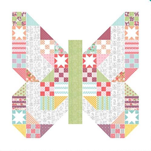 Moda Quilt Patterns - Lella Boutique Lollipop Garden Butterfly Patch Quilt Kit Moda Fabrics KIT5080