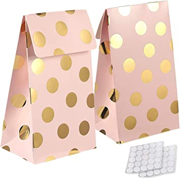 yizeda 24 Packs Paper Candy Favor & Treat Bags for All