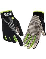 CFTech Cycling Gloves Touchscreen Ultimate Frisbee Gloves Non-Slip Flexible Thin Workout Gloves for Men Women