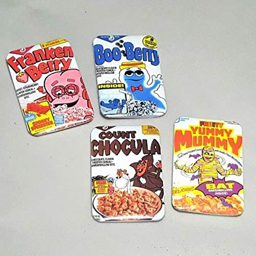 Monster Cereal - Boo Berry - Count Chocula - Yummy Mummy - Franken Berry - Retro Cereal Art - Retro Fridge Magnets - Kids Magnets