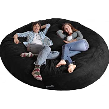 Amazon Com Slacker Sack 8 Round Black Biggest Foam Bean