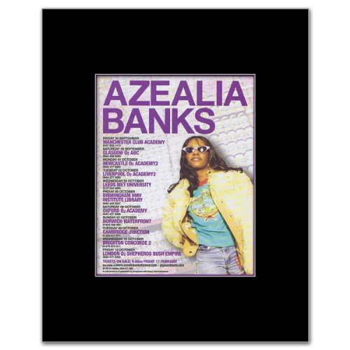 AZEALIA BANKS - UK Tour 2012 Mini Poster - 13.5x10cm