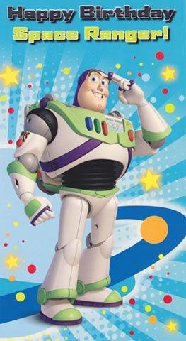 Toy Story - Buzz Lightyear tarjeta de cumpleaños: Amazon.es ...