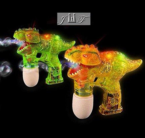 JEWELS FASHION T-REX Bubble Blower Machine Light Up Bubble Gun Blaster, - Cool and Fun LED toy Blaster Bubble Gun Blower - Novelty & Gag Toys, Party Favor, Bag Stuffer, Giveaway, Gifts, (T-REX) by JEWELS FASHION