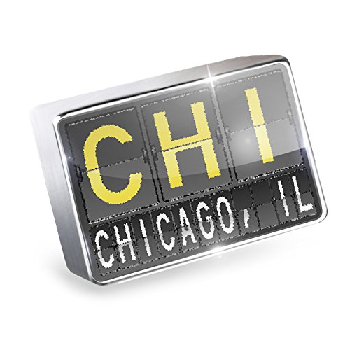 Floating Charm CHI Airport Code for Chicago, IL Fits Glass Lockets, - Airport Il Chicago
