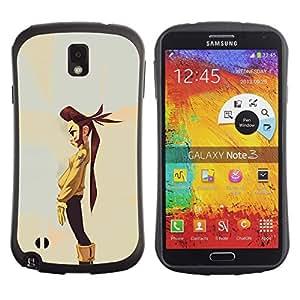 Suave TPU GEL Carcasa Funda Silicona Blando Estuche Caso de protección (para) Samsung Note 3 / CECELL Phone case / / Tomboy Girl Long Hair Art Painting Cartoon /