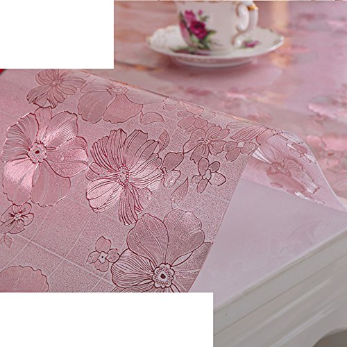 Soft glass,[waterproof],pvc,transparent,thicken, plastic tablecloth/mat table mat/matte cloth/ crystal table cloth-C diameter70cm(28inch) by HAKLLASDFNFDES