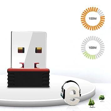 LZDseller01 Adaptador WiFi USB, Mini Dongle de Tarjeta de ...