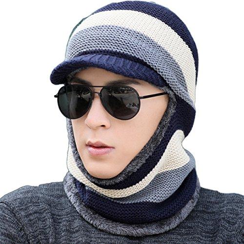 Mantener Azul Bomber Flap Mientras Viento Prueba Ear Mujeres Hat Womens Winter SOOCO Ski Que A Windproof Caliente Unisex Hat Las Winter De Mask nqax8vwBSt