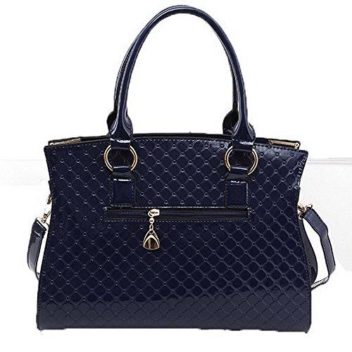 AllhqFashion Femme Tourisme La vie quotidienne Zippers Dacron Sacs à bandoulière Bleu