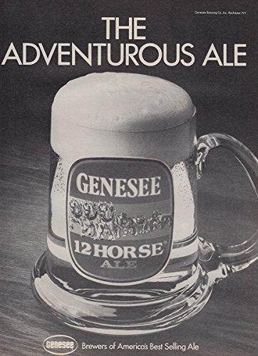 1980 Genesee 12 Horse Ale: Adventurous Ale, Genesee Print Ad (Genesee 12 Horse)