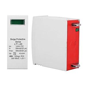 2PCS House Surge Protector Arrester Device Electronics Accessories, House Surge Protective Voltage Arrester Protection Device, 1000V DC Din Rail Mount Surge Protection (40KA)
