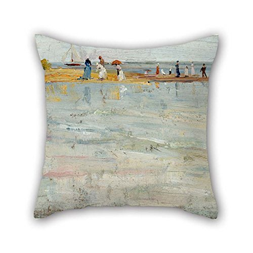 20 X 20 Inches / 50 By 50 Cm Oil Painting Charles Conder - Ricketts Point, Beaumaris Pillow Cases Each Side Is Fit For Bench Her Adults Gril Friend Living (Snuggle Leather Loveseat)