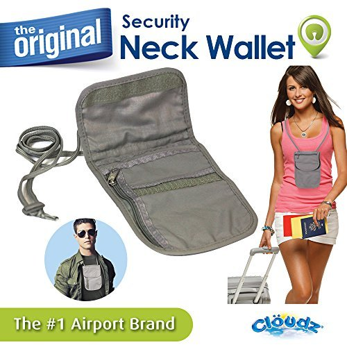 Cloudz Security Neck Wallet Pouch TGS-928394-CAT