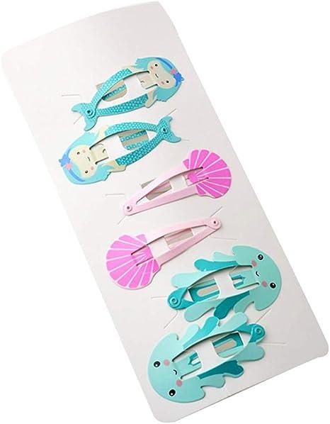 6pcs Fashion Cute Hair Clips Snaps Hairpin Girls Baby Kids Hair Bow Accessories
