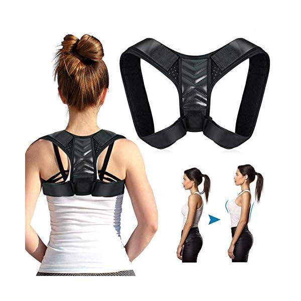 Correcteur de Posture,Correcteur de Posture Dos Épaules pour Hommes et Femmes,Renfort Dorsal Respirant Ajustable…