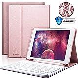 iPad Keyboard Case 9.7 with Pencil Holder for iPad 2018 (6th Gen)/iPad 2017 (5th Gen)/iPad Pro 9.7/iPad Air 2&1-Bluetooth Wireless Detachable Keyboard - iPad Case with Keyboard (Pink)